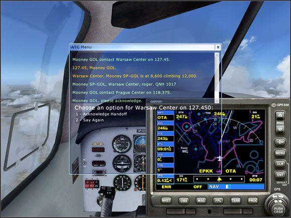 Przekraczamy granicę... - Przelot - Mooney Bravo - Microsoft Flight Simulator X - poradnik do gry