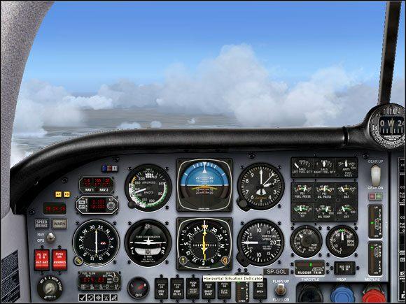 Oddalamy się od radiolatarni OTA. - Przelot - Mooney Bravo - Microsoft Flight Simulator X - poradnik do gry