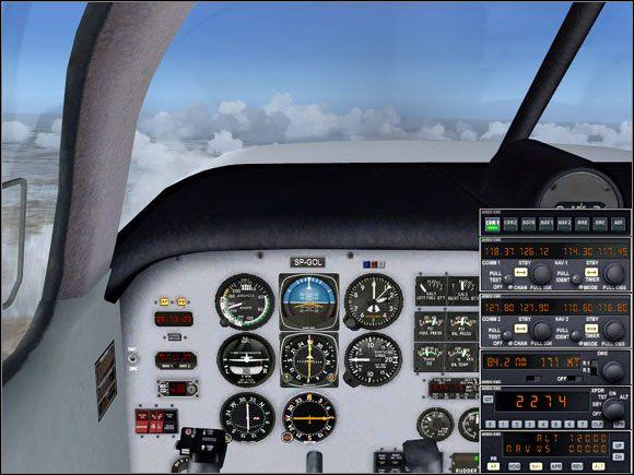 Po przełączeniu na radiolatarnię VLM i ustawieniu przyrządów. - Przelot - Mooney Bravo - Microsoft Flight Simulator X - poradnik do gry
