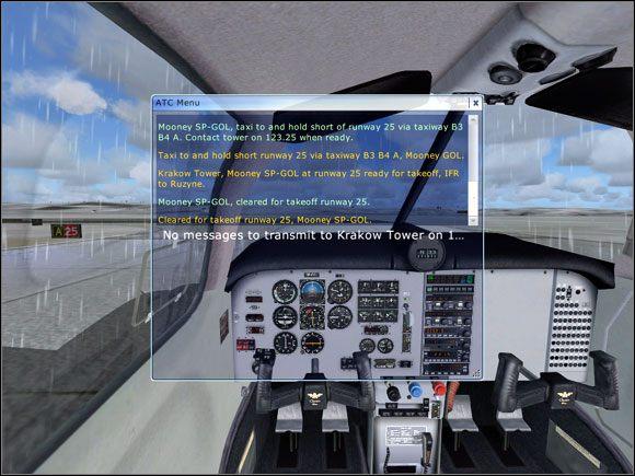 Otrzymana zgoda na start. - Kołowanie - Mooney Bravo - Microsoft Flight Simulator X - poradnik do gry