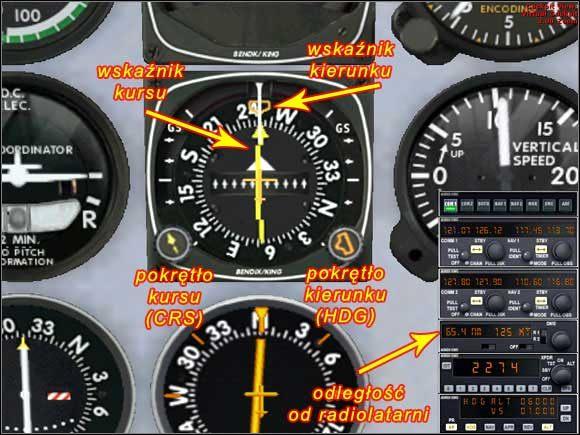 Panel radia i ustawienia przyrządów do lotu. - Wznoszenie - Mooney Bravo - Microsoft Flight Simulator X - poradnik do gry