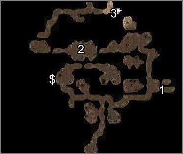 UWAGA: Zaznaczony na mapie znak ($) oznacza żyłę rudy - Studnia Starej Sowy (1) - Akt 1 - Neverwinter Nights 2 - poradnik do gry