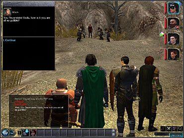 UWAGA: Jeśli w tym momencie zdecydujesz się wrócić do Neverwinter (co nie jest głupim pomysłem, gdyż możesz tam zakupić lepszy sprzęt dla Casavira i uzupełnić zapasy), zostaniesz jeszcze raz napadnięty przez orki, a na czele ataku stać będzie - Studnia Starej Sowy (1) - Akt 1 - Neverwinter Nights 2 - poradnik do gry