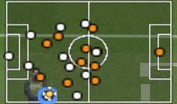 Moment wyprowadzania piłki z własnej połowy - Konwencje taktyczne - Pro Evolution Soccer 6 - poradnik do gry