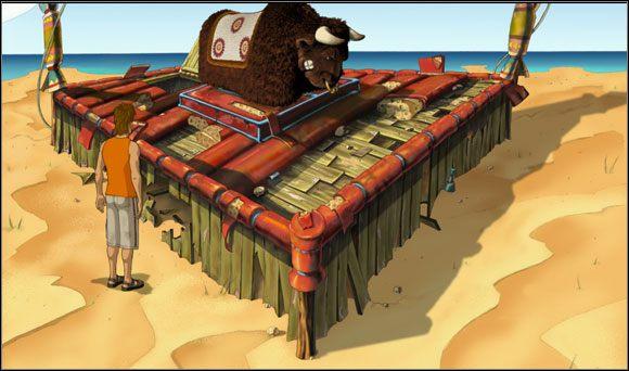 Przy samej plaży znalazł mechanicznego byka, na którym można było pobawić się w rodeo - Surfując na Mala (2) - Rozdział II - Runaway 2: Sen Żółwia - poradnik do gry