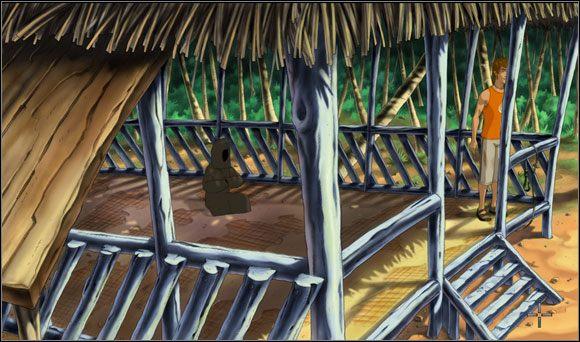 Skierował się więc w stronę szałasu surferów - Surfując na Mala (2) - Rozdział II - Runaway 2: Sen Żółwia - poradnik do gry