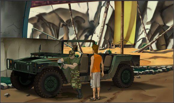 Żołnierz przedstawił się jako Zachariah O'Connor - Surfując na Mala (2) - Rozdział II - Runaway 2: Sen Żółwia - poradnik do gry