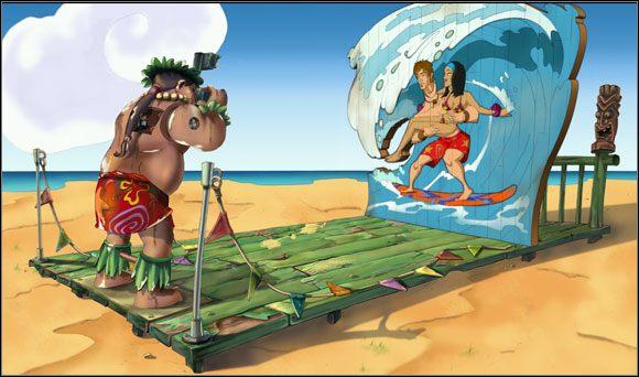 Brian wręczył oba zdjęcia Lokelani - Surfując na Mala (4) - Rozdział II - Runaway 2: Sen Żółwia - poradnik do gry