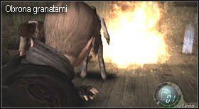 Jeśli uda się im zbliżyć (a dojdzie do tego dość często) nie baw się w zbędne mierzenie, w tym momencie życie będzie ważniejsze od ilości amunicji - Village (2-2) - obrona domu - Resident Evil 4 - PC - poradnik do gry