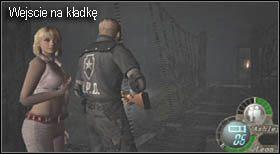 Po rozpoczęciu etapu przejdź kilka metrów, dojdziesz do miejsca, w którym stoi sprzedawca (mapa) - Village (2-2) - obrona domu - Resident Evil 4 - PC - poradnik do gry