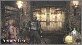 Przed brama prowadząca do farmy natrafisz na sidła, dezaktywuj je nożem, ponieważ nawet jeśli Tobie uda się przejść, Ashley może zostać zraniona - Village (2-2) - eskorta Ashley - Resident Evil 4 - PC - poradnik do gry