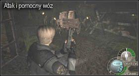 Gdy tylko wyjdziesz na zewnątrz załączy się scenka, w której zobaczysz jak w Twoim kierunku zmierza spora grupa nieprzyjaciół - Village (2-2) - eskorta Ashley - Resident Evil 4 - PC - poradnik do gry