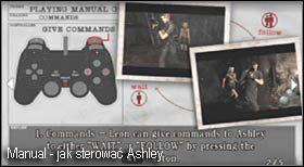 Po wyłączeniu się filmiku powinien pojawić się ekran wyjaśniający jak poruszać się wraz z dziewczyną - Village (2-1) - kościół i spotkanie Ashley - Resident Evil 4 - PC - poradnik do gry