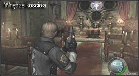 Włóż odpowiedni przedmiot w miejsce na drzwiach i otwórz je - Village (2-1) - kościół i spotkanie Ashley - Resident Evil 4 - PC - poradnik do gry