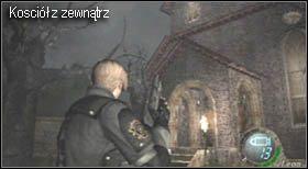 U jej końca zaatakują Cię zmutowane psy (wyłącznie na poziomie medium, grając na easy nigdy ich nie spotkasz) - Village (2-1) - kościół i spotkanie Ashley - Resident Evil 4 - PC - poradnik do gry