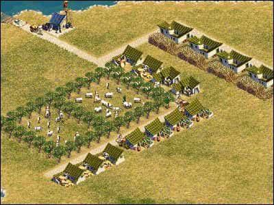 Inny sposób to po prostu utworzenie zagrody za pomocą pojedynczego muru - Rolnictwo - Gospodarka - Zeus: Pan Olimpu - poradnik do gry