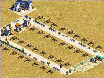 Aby rozbudować szałasy do poziomu 16-osobowych chałup, musimy dostarczyć mieszkańcom żywności - Osiedla mieszkalne - Społeczeństwo - Zeus: Pan Olimpu - poradnik do gry