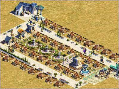Etap czwarty, to rozbudowa chat do poziomu 32-osobowych dom�w - Osiedla mieszkalne - Spo�ecze�stwo - Zeus: Pan Olimpu - poradnik do gry