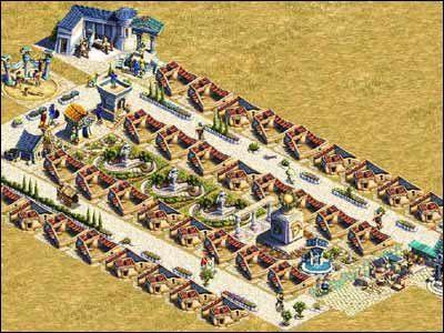 Etap pi�ty, to rozbudowa dom�w do poziomu 40-osobowych domostw - Osiedla mieszkalne - Spo�ecze�stwo - Zeus: Pan Olimpu - poradnik do gry