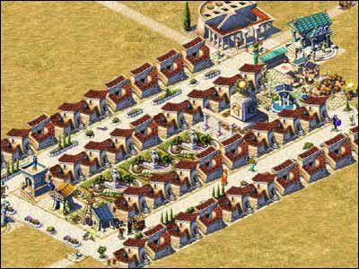 Aby domostwa ewoluowały do poziomu 48-osobowych willi, musimy dostarczyć mieszkańcom oliwy - Osiedla mieszkalne - Społeczeństwo - Zeus: Pan Olimpu - poradnik do gry