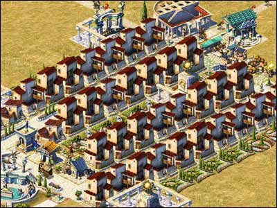 Ostatni etap rozbudowy naszego osiedla, to przekształcenie willi w 60-osobowe kamienice - Osiedla mieszkalne - Społeczeństwo - Zeus: Pan Olimpu - poradnik do gry