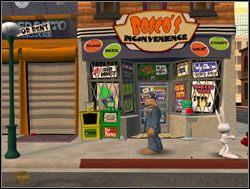 Sam postanowił jeszcze przed podróżą do studia udać się na zakupy do Bosco - Operacja pianka do golenia - II. Situation Comedy - Sam & Max: Sezon 1 - poradnik do gry