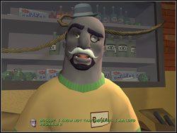 Wewnątrz powitał ich Bosco w swoim nowym, angielskim wcieleniu - Operacja pianka do golenia - II. Situation Comedy - Sam & Max: Sezon 1 - poradnik do gry