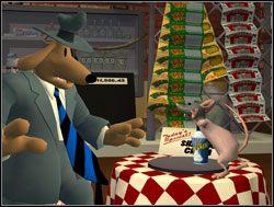 Zacznijmy może od rzeczy bardziej przystępnych - pomyślał Sam, zbliżając się do stolika, na którym leżał ostatni egzemplarz pianki do golenia - Operacja pianka do golenia - II. Situation Comedy - Sam & Max: Sezon 1 - poradnik do gry