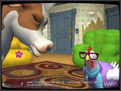 W tym samym momencie do pomieszczenia wszedł gospodarz - Gwiazdy małego ekranu, część I - Miejscy kowboje - II. Situation Comedy - Sam & Max: Sezon 1 - poradnik do gry