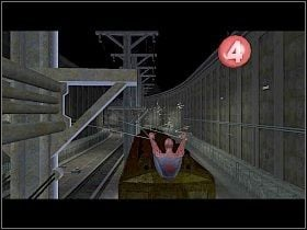 Otwórz obudowę jak najszybciej wciskając na przemian lewy i prawy Shift, a następnie, wciskając pokazaną cyfrę, ustaw zieloną kropkę tak, aby łączyła kable między dwoma zbiornikami [1] - Part 2 - Subway Disaster - Mad Bomber - Spider-Man 3: The Game - poradnik do gry