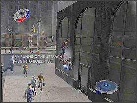 Kolejna bomba znajduje si� na dachu pobliskiego wie�owca - Part 3 - Jetpack Bombings - Mad Bomber - Spider-Man 3: The Game - poradnik do gry