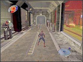 Następnie skieruj się do fabryki [1] , w której właśnie doszło do eksplozji - Part 4 - Caryles Plan - Mad Bomber - Spider-Man 3: The Game - poradnik do gry