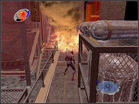 Po skończeniu udaj się w prawo - Part 4 - Caryles Plan - Mad Bomber - Spider-Man 3: The Game - poradnik do gry