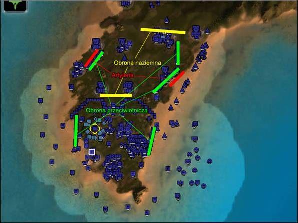 [40 - najważniejsze są instalacje p-lot, druga w kolejności jest obrona naziemna, a na końcu artyleria - Operacja 6 - Kamienny mur (1) - UEF - Supreme Commander - poradnik do gry