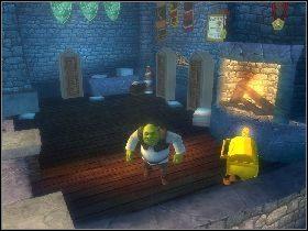 Załatw ich i zacznij niszczyć wszystkie przedmioty na dole - [Solucja] Etap 4 - Stare ruiny - Shrek Trzeci - poradnik do gry