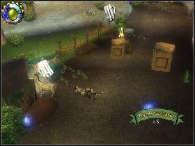 Rusz przed siebie rozprawiając się z przeciwnikami i niszcząc wszystkie skrzynie - [Solucja] Etap 5 - Stara droga - Shrek Trzeci - poradnik do gry