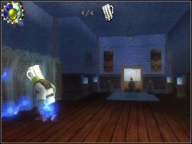 Następnie wejdź do budynku z lewej przez otwarte drzwi - [Solucja] Etap 6 - Teren Akademii - Shrek Trzeci - poradnik do gry