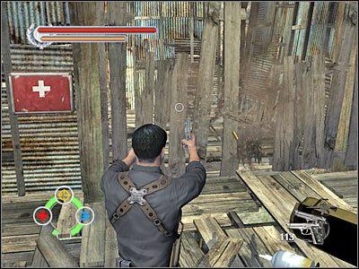 Zacznij strzelać do kolejnych dwóch podpór, w rezultacie czego opadnie w to miejsce nowa platforma - Tai O (7) - Rozdział 2 - Stranglehold - poradnik do gry