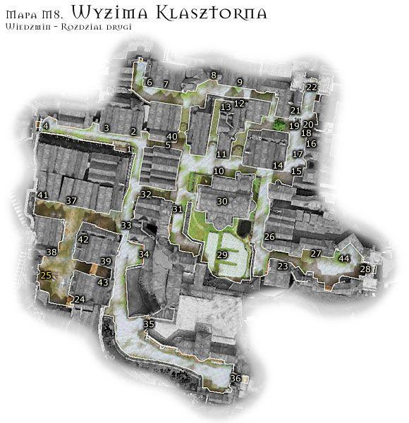 1 - M8: Wyzima Klasztorna - Mapa - Wied�min - poradnik do gry