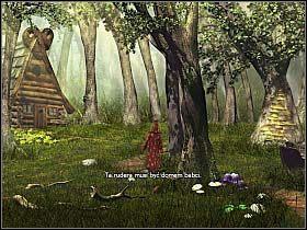 Minąwszy strażnicę, nasz czarodziej kieruje się ku bramie Świątyni Umarłych - Uratować Magiczne Królestwo cz.4 - Simon the Sorcerer 4 - poradnik do gry