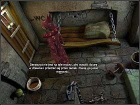 Nasz czarodziej zamknięty w celi słyszy przygotowania do śledztwa, które przeprowadzać będzie wielbiciel tortur, czyli mag Abra Kadabra - Uratować Magiczne Królestwo cz.4 - Simon the Sorcerer 4 - poradnik do gry