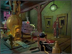 Mimo udanej akcji dywersyjnej, której efektem jest dziura w drzwiach, nasz bohater nie może ot tak sobie uciec z więzienia - Uratować Magiczne Królestwo cz.5 - Simon the Sorcerer 4 - poradnik do gry