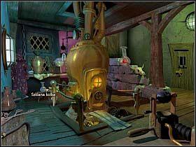 Simon sprawdza też drzwi prowadzące na zewnątrz (na końcu korytarza, na lewo od celi Loczka - Uratować Magiczne Królestwo cz.5 - Simon the Sorcerer 4 - poradnik do gry
