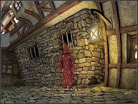 Wyrwawszy się na wolność, Simon zauważa ogłoszenie wiszące na kamienicy naprzeciwko więzienia - Uratować Magiczne Królestwo cz.6 - Simon the Sorcerer 4 - poradnik do gry