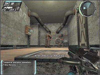 Przeciwnicy b�d� korzystali z drzwi ulokowanych po prawej stronie - Etap 5 - Ground Floor cz.3 - TimeShift - poradnik do gry