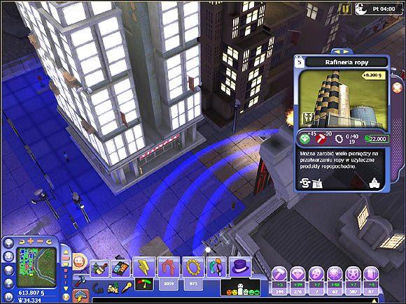 Podsumowując - jeśli chcemy ustawić kolejny budynek i być pewni, że będzie on funkcjonował najlepiej jak to tylko możliwe, włączmy filtr pokazujący zasięg budynków (w postaci kręgów) - Wpływ budynków na otoczenie - Projektowanie miasta - SimCity Społeczności - poradnik do gry