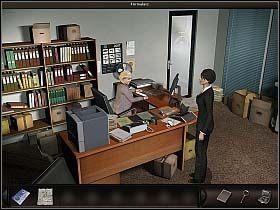 Na miejscu w sprawie owego dokumentu zagadnij Ruth - Biuro FBI - Dzień 2 - Art of Murder: Sztuka Zbrodni - poradnik do gry