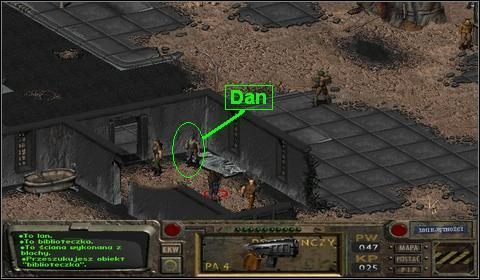 Stoi on za ścianą zdewastowanego pomieszczenia w południowej części Śródmieścia Hub - Hub (1) - Opis przejścia - Fallout - poradnik do gry