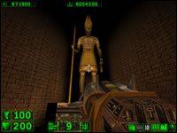 Sekret #1: Aby odkryć ten sekret trzeba rozwalić wszystkie posagi znajdujące się na tym poziomie - 04: Dolina Królów - Serious Sam: Pierwsze starcie - poradnik do gry