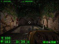 Sekret #4: Za wielkim wodospadem, po wejściu do jaskini idąc wprost natrafimy na ukryte przejście (trzeba przesunąć ścianę) - 05: Księżycowe góry - Serious Sam: Pierwsze starcie - poradnik do gry